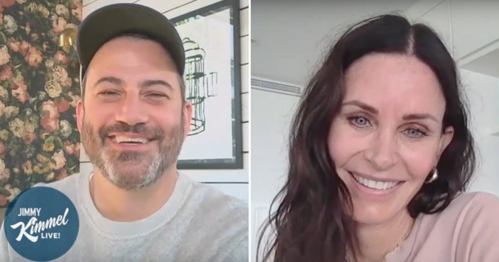 Jimmy Kimmel Quizzes Courteney Cox on Friends Trivia | Video