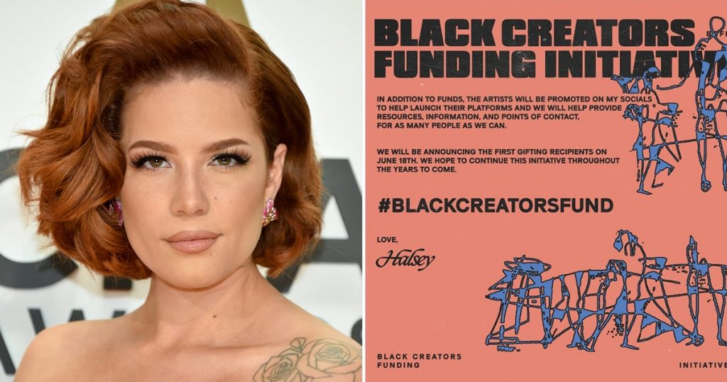 Halsey Launches Black Creators Funding Initiative